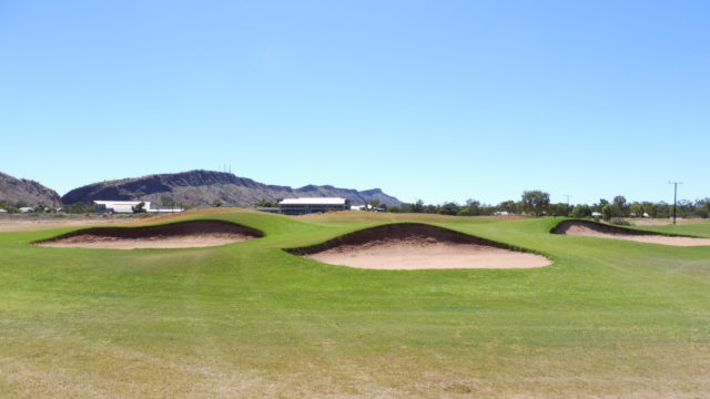 The 15th green at Alice Springs Golf Club