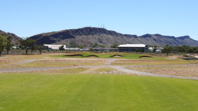 The 15th tee at Alice Springs Golf Club