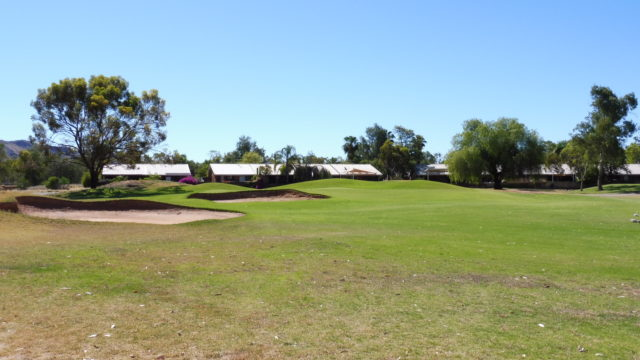 The 16th fairway at Alice Springs Golf Club