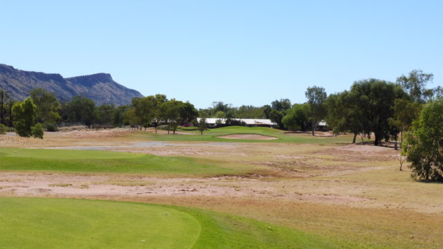 The 16th tee at Alice Springs Golf Club