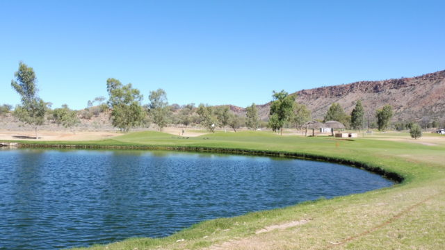 The 17th fairway at Alice Springs Golf Club