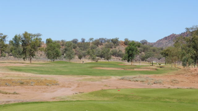 The 17th tee at Alice Springs Golf Club