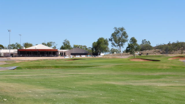 The 18th fairway at Alice Springs Golf Club