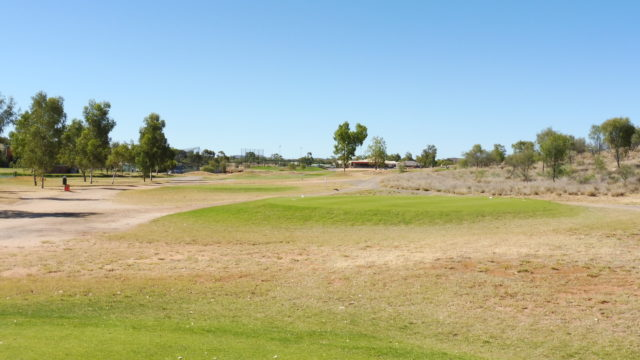The 18th tee at Alice Springs Golf Club