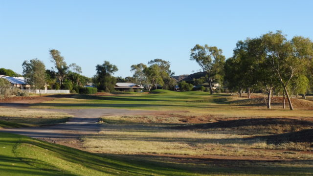 The 1st tee at Alice Springs Golf Club