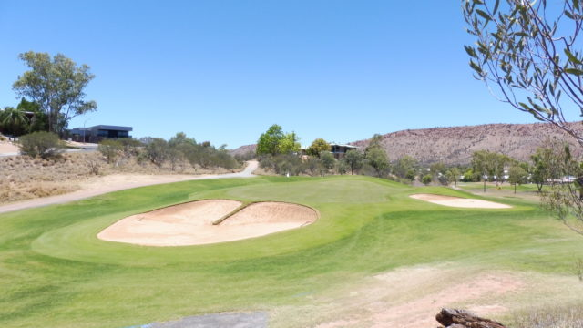 The 3rd green at Alice Springs Golf Club
