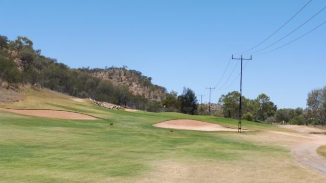 The 4th fairway at Alice Springs Golf Club