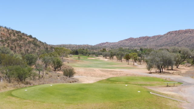 The 4th tee at Alice Springs Golf Club