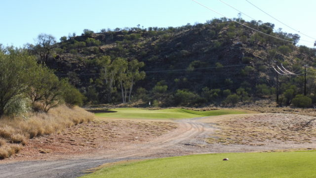 The 5th tee at Alice Springs Golf Club