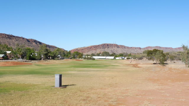 The 6th fairway at Alice Springs Golf Club