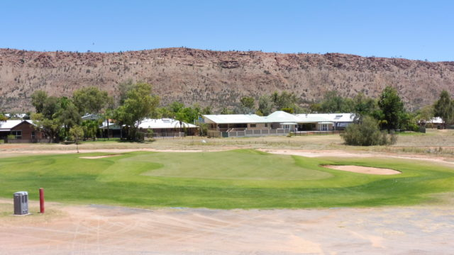 The 6th green at Alice Springs Golf Club