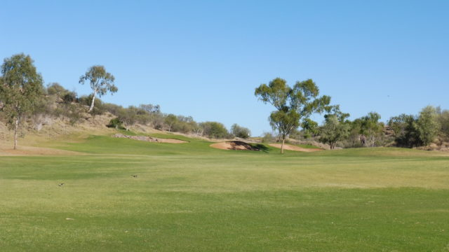 The 7th fairway at Alice Springs Golf Club