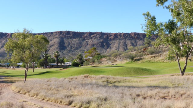 The 7th green at Alice Springs Golf Club