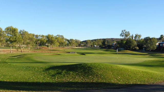 The 9th green at Alice Springs Golf Club