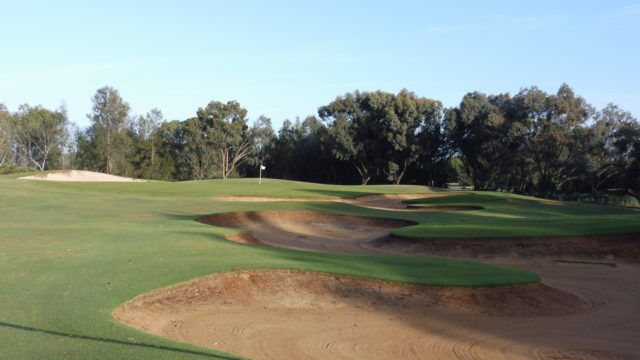 The 12th green at Murray Downs Golf Country Club