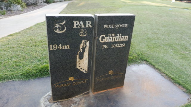 Hole marker at Murray Downs Golf Country Club