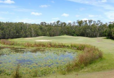 The 13th green at Capricorn Resort Golf Course