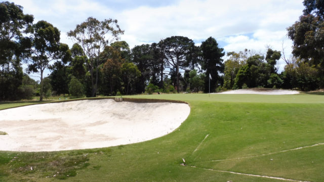 The 11th green at Cranbourne Golf Club
