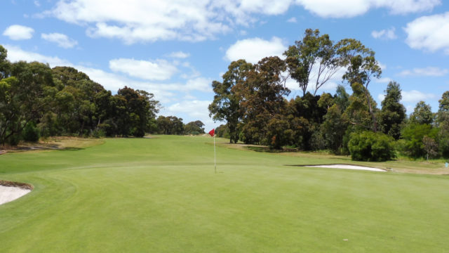 The 13th green at Cranbourne Golf Club