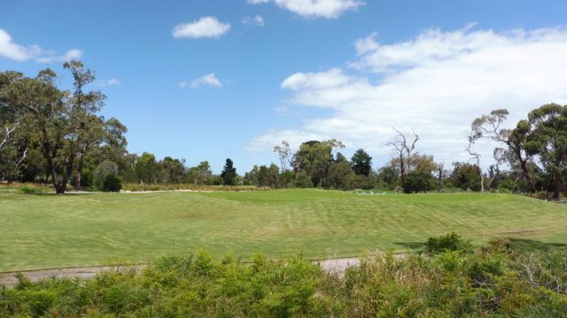 The 14th green at Cranbourne Golf Club