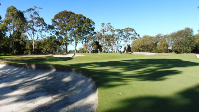 The 15th green at Cranbourne Golf Club