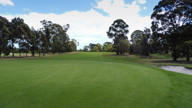 The 17th green at Cranbourne Golf Club