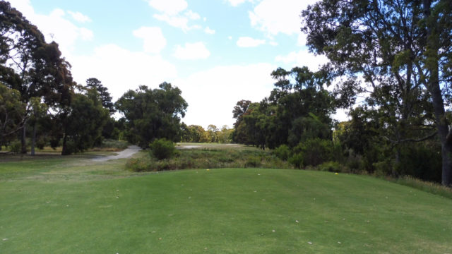 The 18th tee at Cranbourne Golf Club