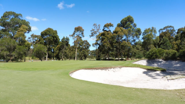The 1st green at Cranbourne Golf Club