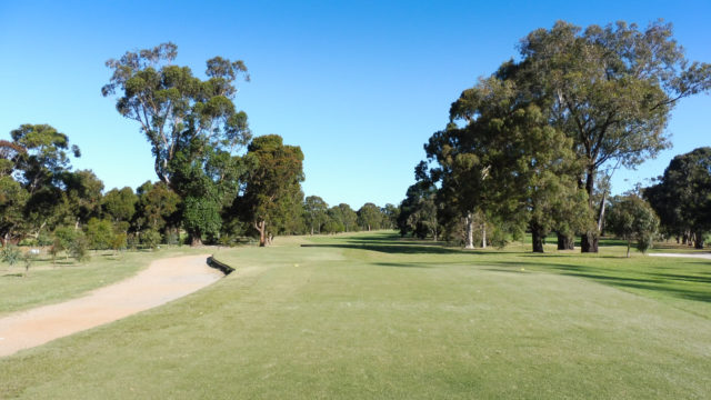The 1st tee at Cranbourne Golf Club