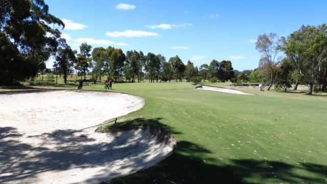The 2nd green at Cranbourne Golf Club