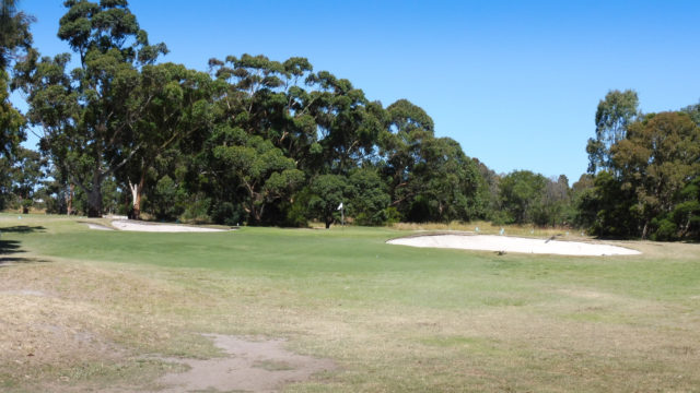 The 3rd green at Cranbourne Golf Club
