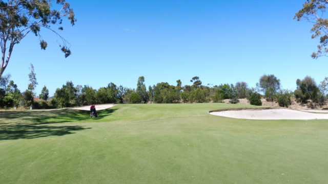 The 4th green at Cranbourne Golf Club