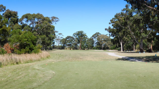 The 4th tee at Cranbourne Golf Club