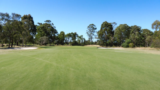The 6th green at Cranbourne Golf Club
