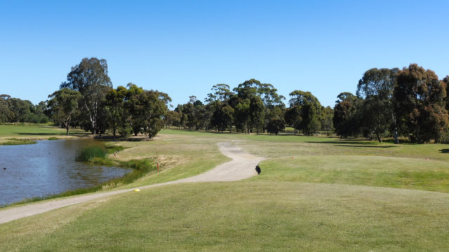 The 7th tee at Cranbourne Golf Club
