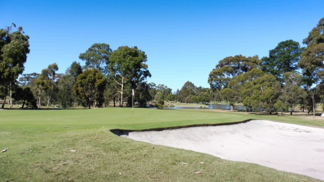 The 8th green at Cranbourne Golf Club