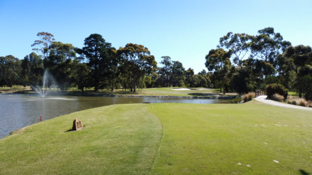 The 8th tee at Cranbourne Golf Club