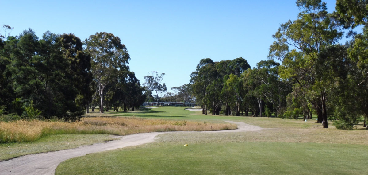 The 9th tee at Cranbourne Golf Club