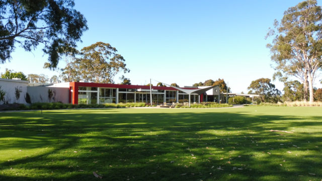 The clubhouse at Cranbourne Golf Club