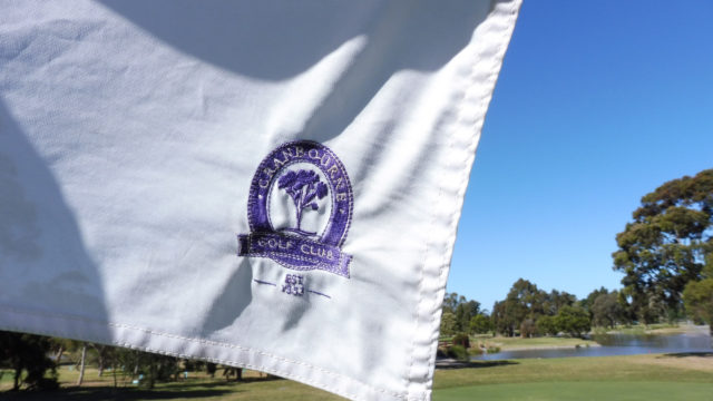 Pin flag at Cranbourne Golf Club