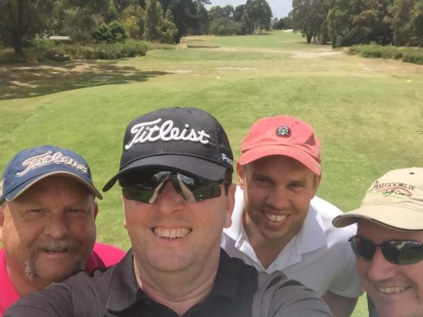 Our playing group, Mark, James, Stephen and myself at Cranbourne Golf Club
