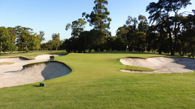 The 15th green at Commonwealth Golf Club