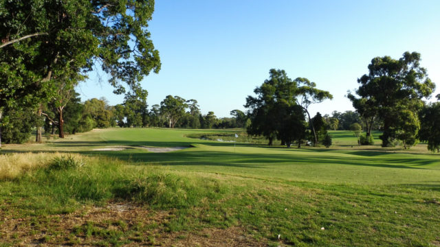 The 16th green at Commonwealth Golf Club