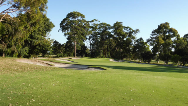 The 1st fairway at Commonwealth Golf Club