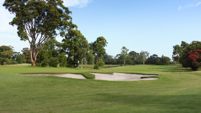 The 3rd green at Commonwealth Golf Club