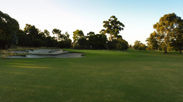 The 7th green at Commonwealth Golf Club
