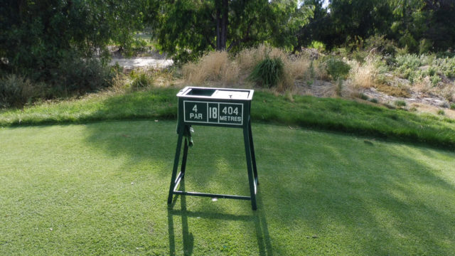 Hole marker at Commonwealth Golf Club