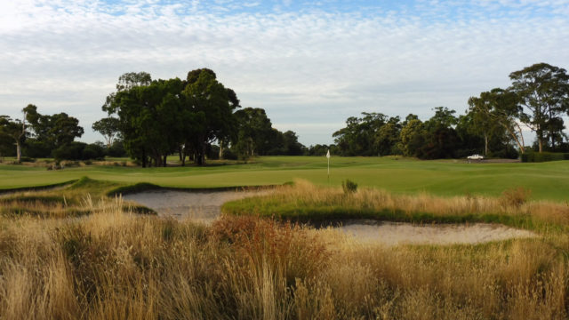 The 6th green at Kingston Heath Golf Club