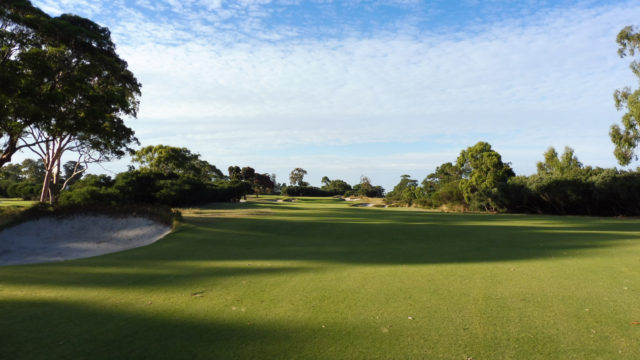 The 7th fairway at Kingston Heath Golf Club