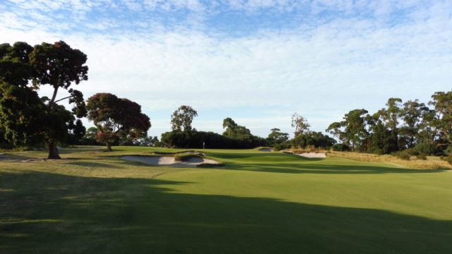 The 7th green at Kingston Heath Golf Club
